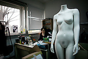 Wednesday March 26th 2008.  .Saint Denis (Seine Saint Denis), France.In the office of the clothes brand Article 23...