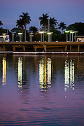 Belo Horizonte_MG, Brasil...Iate Tenis Clube, em frente a Lagoa da Pampulha, projetado por Oscar Niemeyer, faz parte do conjunto arquitetonico da Pampulha em Belo Horizonte, Minas Gerais...Iate Tenis Clube, in front of Pampulha Lake, designed by Oscar Niemeyer, is part of Pampulha architectural complex in Belo Horizonte, Minas Gerais..Foto: JOAO MARCOS ROSA / NITRO