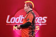 Peter Wright during the PDC Ladbrokes Masters 2021 at Marshall Arena, Milton Keynes, United Kingdom on 31 January 2021.