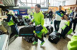 Gaber Glavic during departure of Slovenia Olympic Team for PyeongChang 2018, on February 6, 2018 in Airport Joze Pucnik, Brnik, Slovenia. Photo by Morgan Kristan / Sportida
