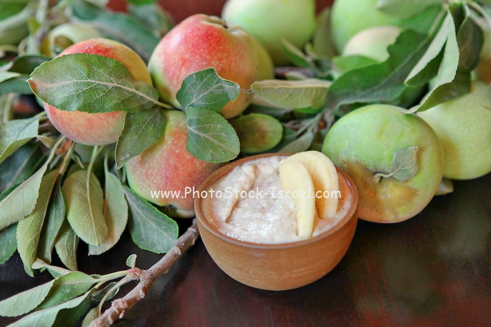 Taramosalata a Greek and Turkish meze of Fish Roe salad (Ikra) and apples
