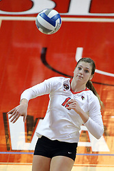 23 October 2015:  Ashley Rosch(15) during an NCAA women's volleyball match between the Wichita State Shockers and the Illinois State Redbirds at Redbird Arena in Normal IL (Photo by Alan Look)