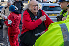 Anti-nuclear campaigners protest , Edinburgh, 18 February 2019