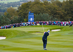 Auchterarder, Scotland, UK. 14 September 2019. Saturday afternoon Fourballs matches  at 2019 Solheim Cup on Centenary Course at Gleneagles. Pictured; Suzann Pettersen of Team Europe plays approach to the 8th green.Iain Masterton/Alamy Live News