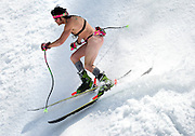 PRICE CHAMBERS / NEWS&GUIDE<br /> Several men were spotted shredding in the nude, like this brave and confident skier traveling with only the bare essentials, and a GoPro camera on a Chesty mount.