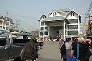 Myanmar and Thailand border at Mai Sai the border crossing post
