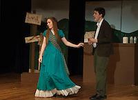 "Dress rehearsal for ""Brigadoon"" at Laconia High School.  Karen Bobotas/for the Laconia Daily Sun"