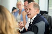 30 AUG 2020, BERLIN/GERMANY:<br /> Olaf Scholz, SPD, Budnesfinanzminister, Paul-Loebe-Haus, Deutscher Bundestag<br /> IMAGE: 20200830-01-118
