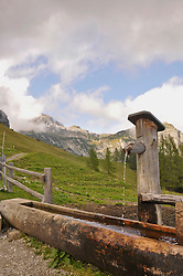 View of trough with mountains, Salzburger Land, Austria