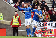 Tom Naylor celerates his goal 1-1 during the EFL Sky Bet League 1 match between Sunderland and Portsmouth at the Stadium Of Light, Sunderland, England on 27 April 2019.