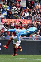 Britos Napoli, Juan  Iturbe Roma.<br /> Roma 4-04-2015 Stadio Olimpico. Football Calcio 2014/2015 Serie A. AS Roma - Napoli. Foto Antonietta Baldassarre / Insidefoto