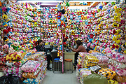 A view of a shop front displaying stuffed toys at the China Commodity City in Yiwu, Zhejiang Province, China on 06 March  2013. The city of Yiwu is known as one of China's largest trading centers for small merchandise and light industry, drawing buyers from around the world. Uncertain global demand, a stronger yuan currency and rising labour costs have taken their toll on Chinese exporters, but analysts believe sales could pick up modestly in 2014 due to improved demand from the United States and Europe.