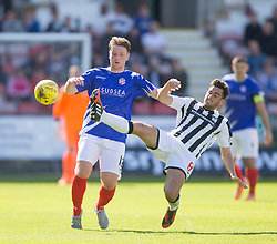 Cowdenbeath's Christopher Kane and Dunfermline's Shaun Byrne.<br /> Dunfermline 5 v 1 Cowdenbeath, Scottish League Cup game played today at East End Park.