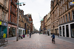 Glasgow, Scotland, UK. 6 Mar 2021. With Scotland remaining under national lockdown during the covid-19 pandemic Glasgow city centre remains a virtual ghost town with few people in the city centre and almost all shops and businesses still closed.  Pic; Buchanan Street pedestrian shopping street is almost empty people and all shops are shuttered.  Iain Masterton/Alamy Live News