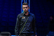 Mark Selby wins the final frame to progress through to the Semi Finals after beating Ronnie O'Sullivan 5-4 during the 19.com Home Nations Scottish Open at the Emirates Arena, Glasgow, Scotland on 13 December 2019.