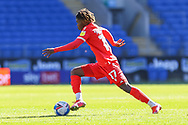 Nottingham Forest's Alex Mighten (17) in action during the EFL Sky Bet Championship match between Cardiff City and Nottingham Forest at the Cardiff City Stadium, Cardiff, Wales on 2 April 2021.