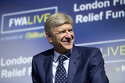 Arsenal manager Arsene Wenger during the Football Writers Association Live event at Ham Yard Hotel, London.
