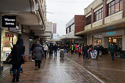 General view of Motherwell Shopping Centre arcade.