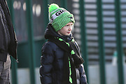 Young FGR fan during the EFL Sky Bet League 2 match between Forest Green Rovers and Salford City at the New Lawn, Forest Green, United Kingdom on 18 January 2020.