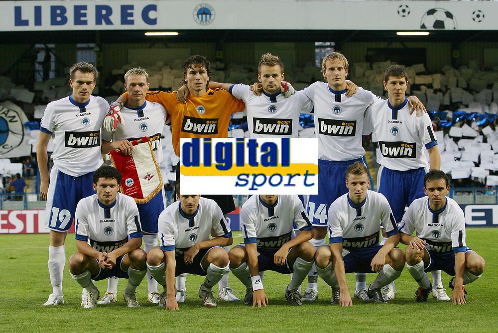 FC Slovan Liberec - up from left: Peter Singlar, Tomas Zapotocny, Marek Cech, Zbynek Pospech, Pavel Kostal, Jiri Bilek    doown from left:  Ivan Hodur, Tomas Frejlach, Daniel Pudil, Jan Blazek, Tomas Janu