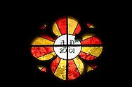 Stained glass window in the cloister of the Dome Cathedral, Riga, Latvia © Rudolf Abraham