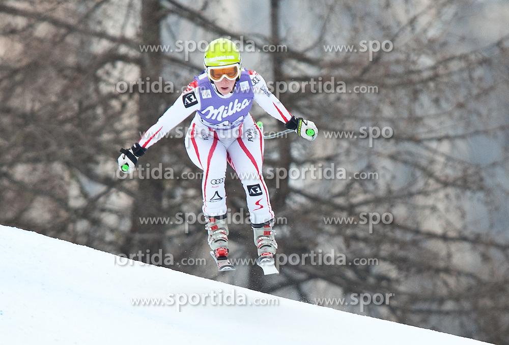 20.01.2011, Tofana, Cortina d Ampezzo, ITA, FIS World Cup Ski Alpin, Lady, Cortina, Abfahrt 2. Training, im Bild Stefanie Moser (AUT, #44) // Stefanie Moser (AUT) during FIS Ski Worldcup ladies downhill second training at pista Tofana in Cortina d Ampezzo, Italy on 20/1/2011. EXPA Pictures © 2011, PhotoCredit: EXPA/ J. Groder