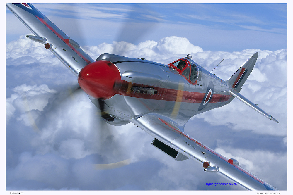 Spitfire MKXIV, aerial close up