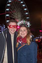 Tom Selina and Beth Poynton-Hubbersty. Edinburgh's Hogmanay Street Party, Sunday 31st December.