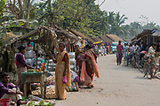On the local market in Jagiroad, Assam, India.