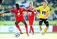 Fotball , 13. julii 2013 , Tippeligaen , Eliteserien , <br /> Start - Brann 3-3<br /> Stephane Badji  , Brann<br /> Mattias Vilhjalmsson , Start