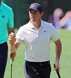 April 6, 2018 - Augusta, GA, USA - Rory Mcllroy birdies three during the second round of the Masters at Augusta National Golf Club on Friday, April 6, 2018, in Augusta, Ga. (Credit Image: © Curtis Compton/TNS via ZUMA Wire)
