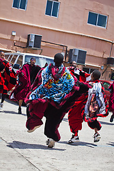 The Masqueraders perform for the seniors at Lucinda Milling Home for the Aged.  Mini Carnival at Lucinda Millin Home for the Aged.  St. Thomas, USVI.  11 April 2015.  © Aisha-Zakiya Boyd