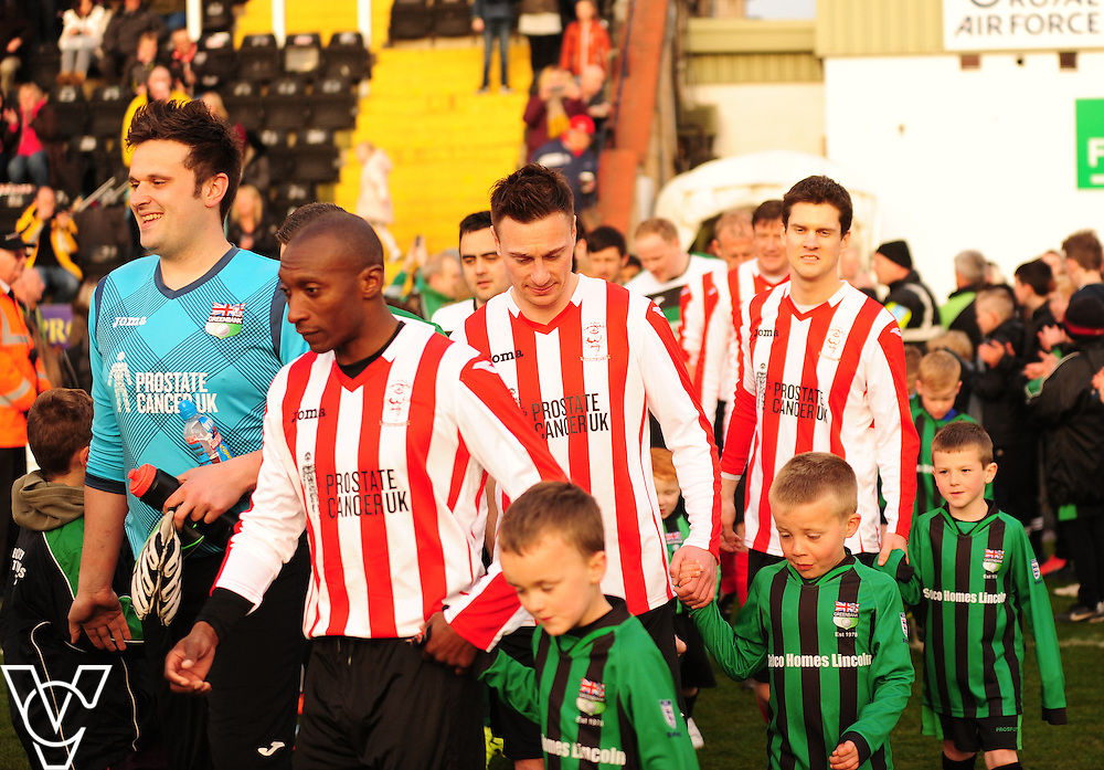 Greenbank FC Vs Lincoln City XI charity match to raise money for Prostate Cancer UK.<br /> <br /> Picture: Andrew Vaughan/Chris Vaughan Photography<br /> <br /> Football - Charity Match - Greenbank FC Vs Lincoln City XI  - Wednesday 27th April 2016 - Sincil Bank - Lincoln