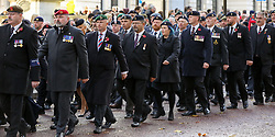November 11, 2018 - London, London, United Kingdom - National Service of Remembrance. ..Members and veterans take part in the annual Remembrance Sunday on the Centenary of the Armistice procession to pay tribute to those who have suffered or died during war. (Credit Image: © Dinendra Haria/i-Images via ZUMA Press)