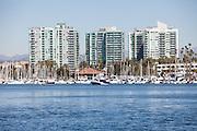 Boats Docked at Marina Del Rey Harbor