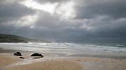 Porthmeor beach, St Ives, Cornwall, England, UK