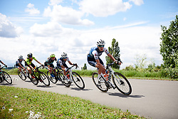Ellen van Dijk (NED) leads the chase of the lone leader at Stage 2 of 2019 OVO Women's Tour, a 62.5 km road race starting and finishing in the Kent Cyclopark in Gravesend, United Kingdom on June 11, 2019. Photo by Sean Robinson/velofocus.com