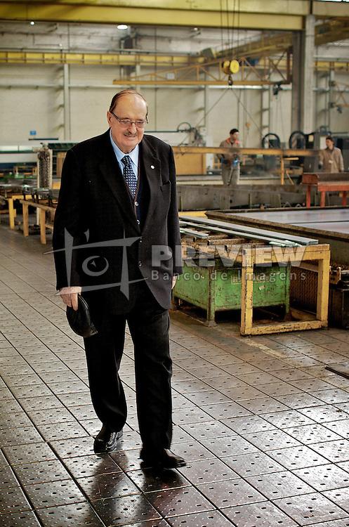 O empresário Raul A. Randon na sua fábrica, na cidade de Caxias do Sul, há 130 km de Porto Alegre. FOTO: Jefferson Bernardes/ Agência Preview