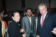 SARAH SZE; SIDDARTHA MUKHERJEE; AMBASSADOR DAVID THORNE, The Bronx Museum of the Arts, Tanya Bonakdar Gallery and the Victoria Miro Gallery host a reception and dinner in honor of Sarah Sze: Triple Point. Representing the United States of America at the 55th Biennale di Venezia with the Co  Commissioners of the  U. S. Pavilion Holly Block, Executive Director of the Bronx Museum of the arts  and Carey Lovelace. <br /> <br /> Rialto Fish market. Venice. . 29 May 2013
