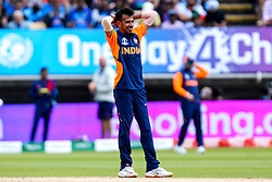 Yuzvendra Chahal of India cuts a frustrated figure - Mandatory by-line: Robbie Stephenson/JMP - 30/06/2019 - CRICKET - Edgbaston - Birmingham, England - England v India - ICC Cricket World Cup 2019 - Group Stage