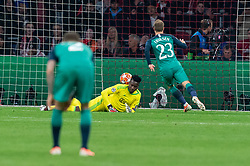 08-05-2019 NED: Semi Final Champions League AFC Ajax - Tottenham Hotspur, Amsterdam<br /> After a dramatic ending, Ajax has not been able to reach the final of the Champions League. In the final second Tottenham Hotspur scored 3-2 / Andre Onana #24 of Ajax, Christian Eriksen #23 of Tottenham Hotspur