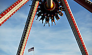 A group of people are flipped upside on a ride at Coney Island in Brooklyn, New York, USA, 26 May 2014.
