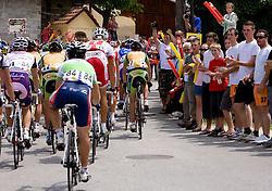 Fans at Gabrje at 4th stage of Tour de Slovenie 2009 from Sentjernej to Novo mesto, 153 km, on June 21 2009, Slovenia. (Photo by Vid Ponikvar / Sportida)