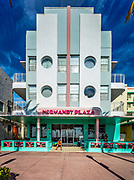A Miami Beach landmark: the Art Deco-style Ocean Surf Hotel (aka Normandy  Plaza Hotel) designed by modernist architect Anton Skislewicz in 1940. It's not in South Beach, but is on a South Beach-like, oceanfront street named Ocean Terrace in Miami Beach's North Beach district.