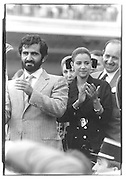 Chantilly '87. Sheikh Mohammed, Al Maktoum. Princess Lalla Meriem of Morocco© Copyright Photograph by Dafydd Jones 66 Stockwell Park Rd. London SW9 0DA Tel 020 7733 0108 www.dafjones.com