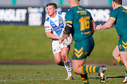 Workington Town stand off Jamie Doran (6) in action  during the Ladbrokes Challenge Cup round 3 match between Hunslet Club Parkside and Workington Town at South Leeds Stadium, Leeds, United Kingdom on 24 February 2018. Picture by Simon Davies.