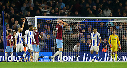 West Ham United's Marko Arnautovic reacts after his free kick fails to go induring the Premier League match at the AMEX Stadium, Brighton.