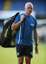 """Port Vale coach David Kelly during the pre-season friendly match at Vale Park, Stoke. PRESS ASSOCIATION Photo. Picture date: Tuesday August 1, 2017. See PA story SOCCER Port Vale. Photo credit should read: Nick Potts/PA Wire. RESTRICTIONS: EDITORIAL USE ONLY No use with unauthorised audio, video, data, fixture lists, club/league logos or """"live"""" services. Online in-match use limited to 75 images, no video emulation. No use in betting, games or single club/league/player publications."""