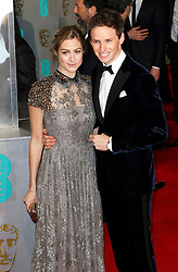 © London News Pictures. Hannah Bagshawe, Eddie Redmayne, EE British Academy Film Awards (BAFTAs), Royal Opera House Covent Garden, London UK, 08 February 2015, Photo by Richard Goldschmidt /LNP