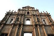 Ruins of St. Paul's Cathedral in Macau, China, on February 20, 2008. Photo by Lucas Schifres
